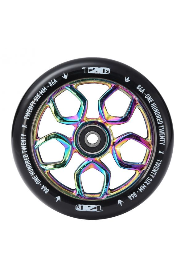 Blunt Envy Lambo Scooter Wheel Pair - 120mm x 26mm - Oil Slick
